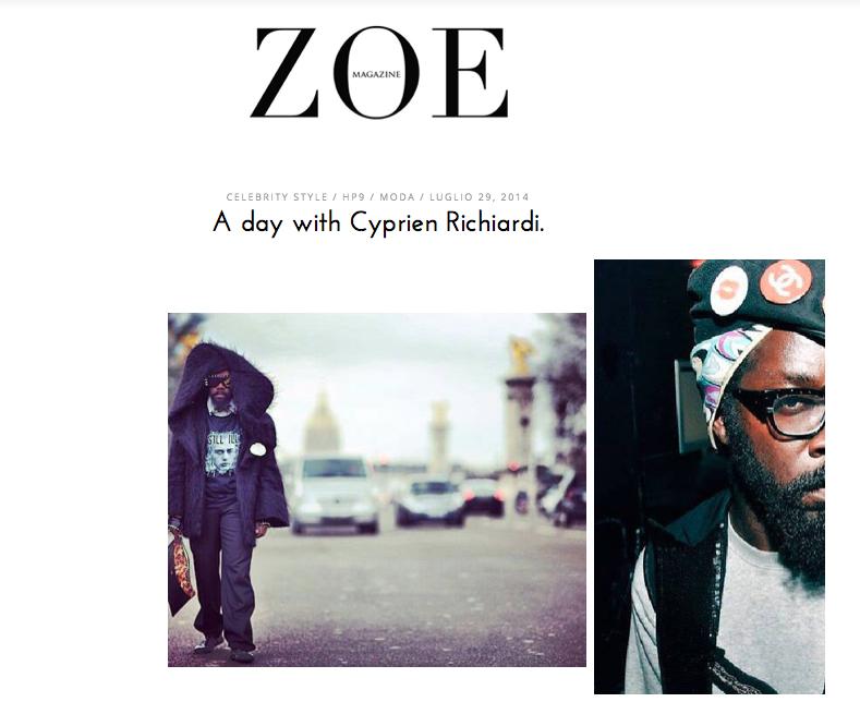 cyprien intervista zoe magazine